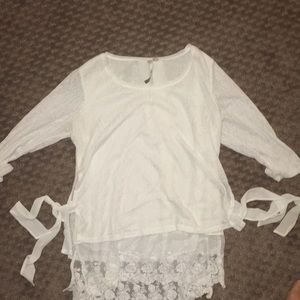 Lauren Conrad sweater with tie sides